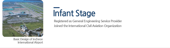 Infant Stage - Registered as General Engineering Service Provider, Joined the International Civil Aviation Organization